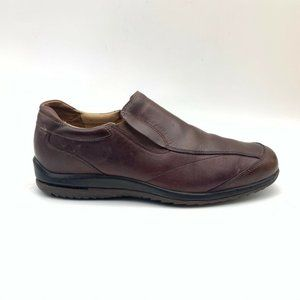 Rockport Mens Loafers Shoes Brown Leather 10 M